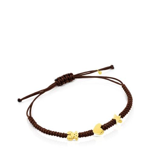 Gold Sweet Dolls XXS Bracelet with Bear, Star and Heart motifs.