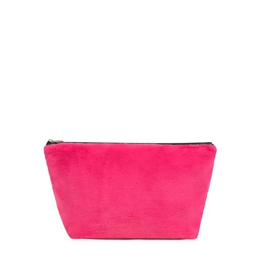 Bolsa mediana Kaos Shock Fur rosa