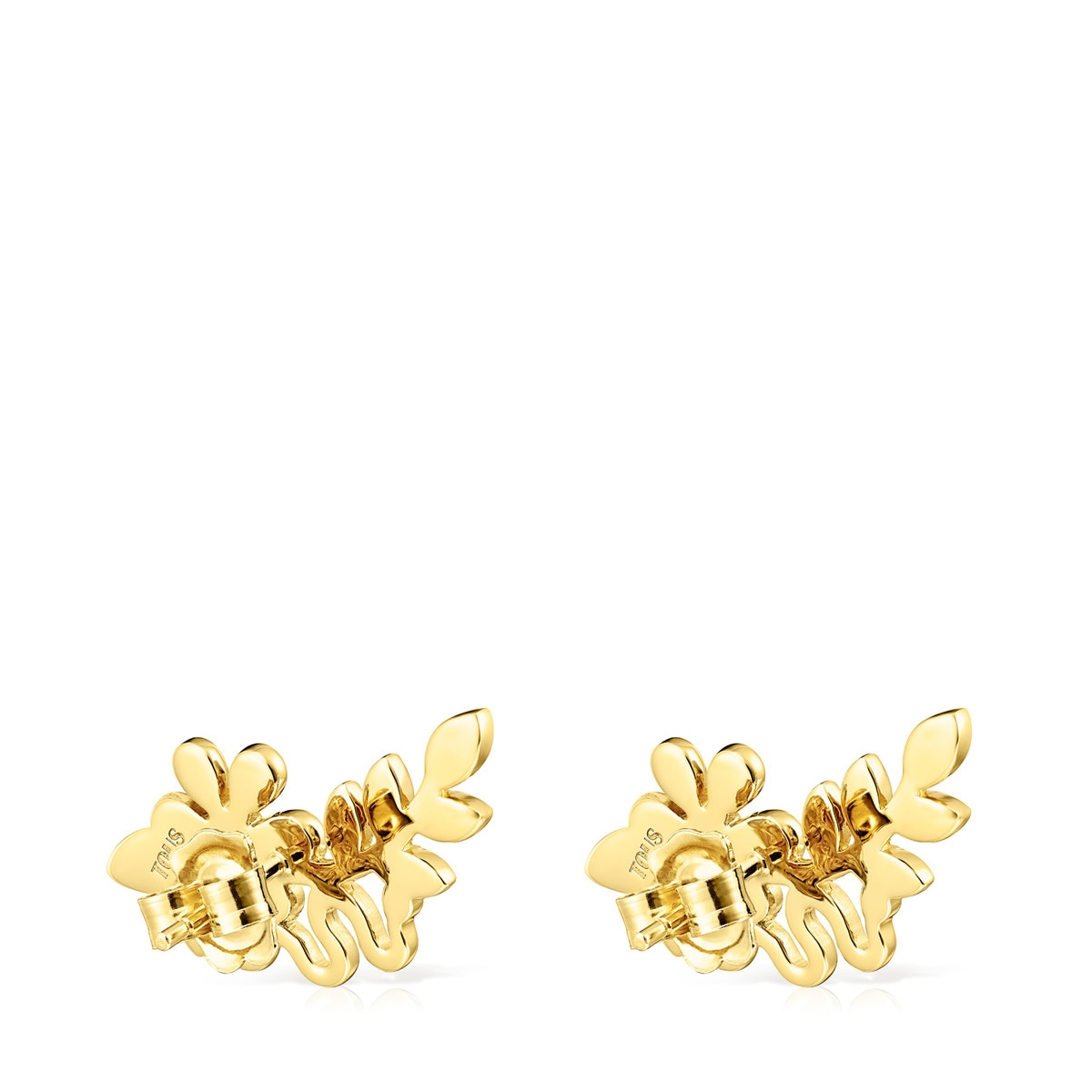 f72c49a63542a Gold Vermeil Real Mix Leaf Earrings