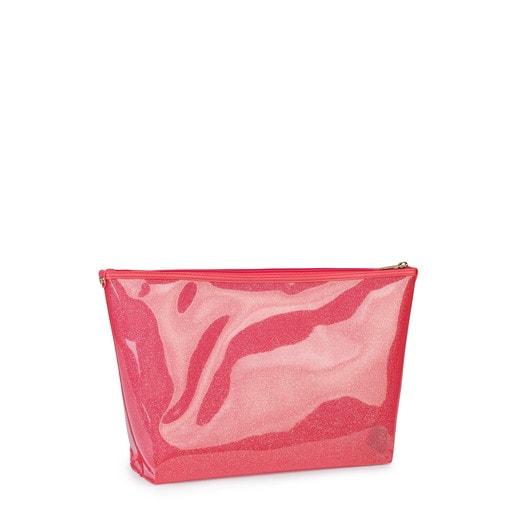 Μεσαίου μεγέθους τσάντα Kaos Shock από Βινύλιο σε κοραλί χρώμα
