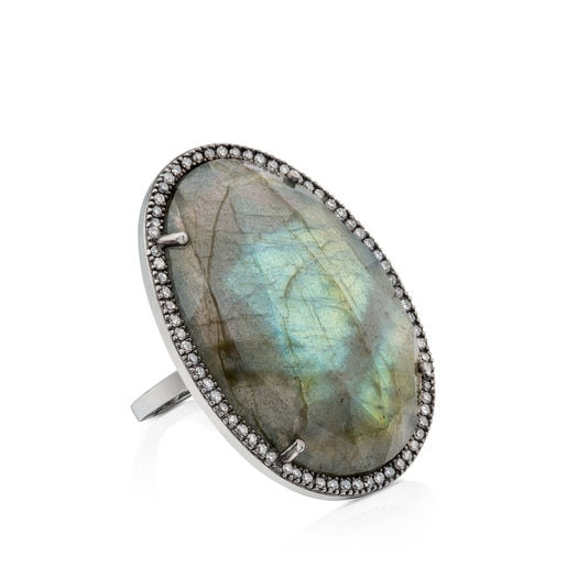 Silver Dinah Ring with Diamonds