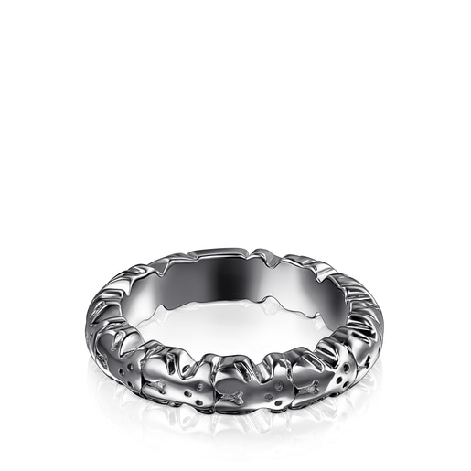 Dark silver Straight XL Ring