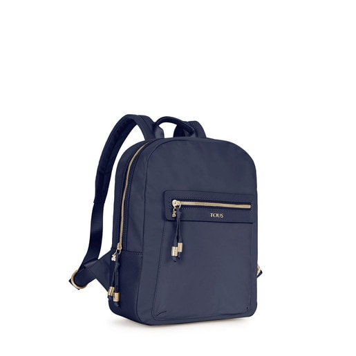 Navy colored Canvas Brunock Chain Backpack