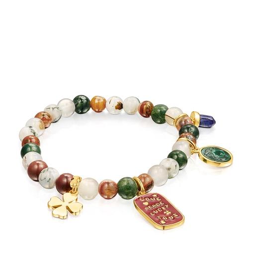 Silver Vermeil TOUS Good Vibes Bracelet with Agates