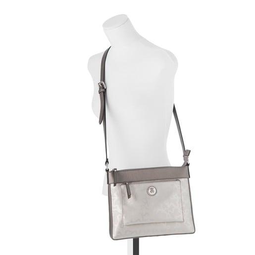 Silver colored Kaos Shiny Crossbody bag