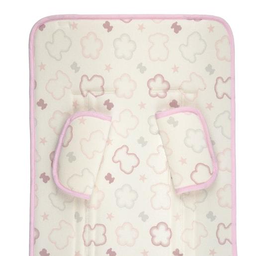 Buggy-Bezug Bären und Blumen Seat rosa