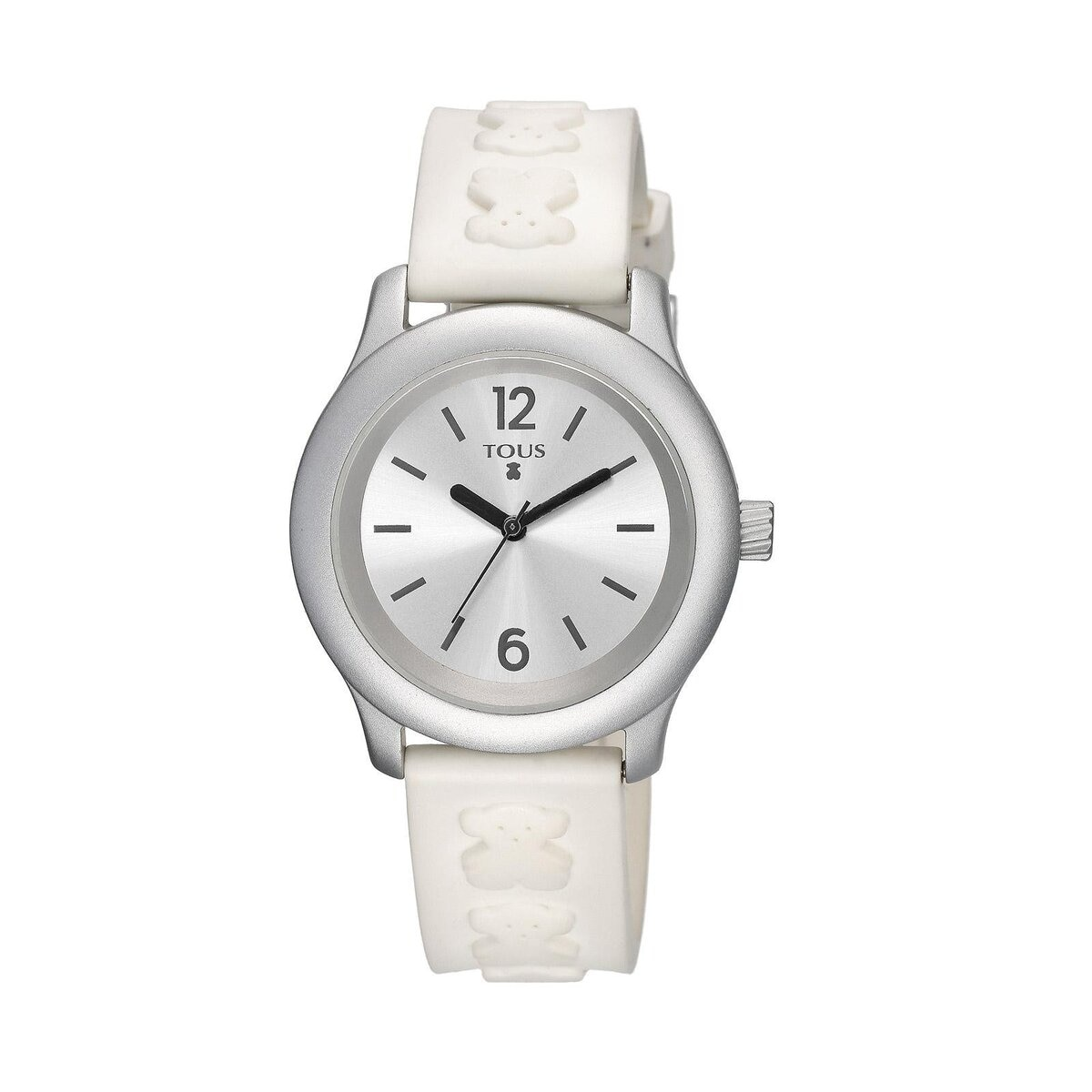 Anodized Aluminum Candy Watch with white Silicone strap