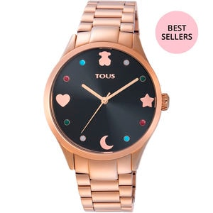 Reloj Super Power de acero IP rosado