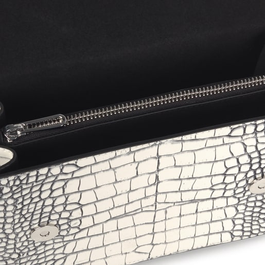 Small black and white Audree Wild Crossbody bag