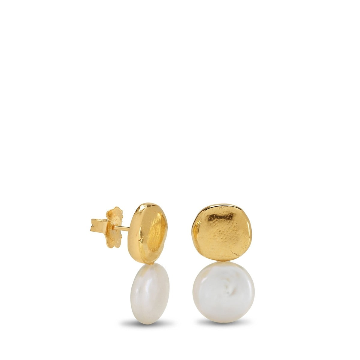 Gold Duna Earrings with Pearl