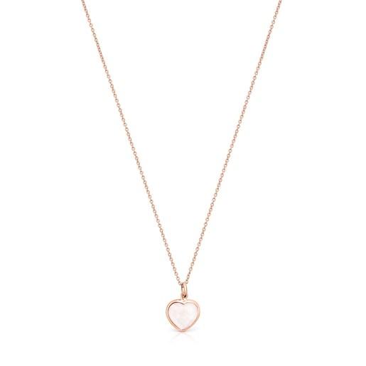 Rose Silver Vermeil and pink Quartz Sweet Dolls Color Necklace
