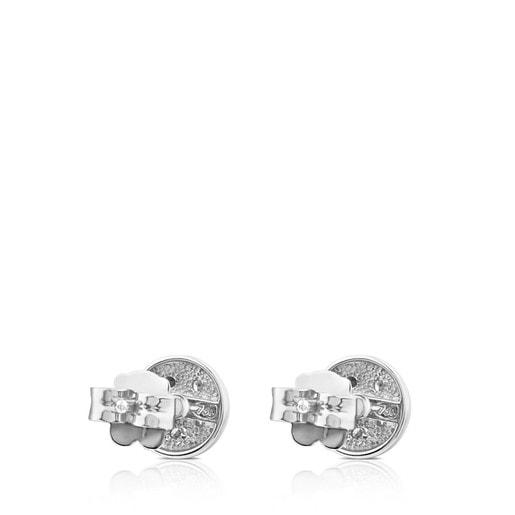 Pendientes Super Micro de Oro blanco y Diamantes