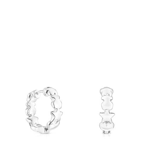 Ohrringe Mini Icons aus Silber