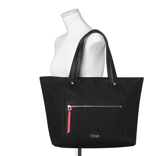 Μεγάλη μαύρη τσάντα Tote Shelby