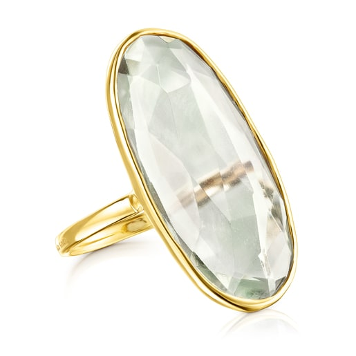 Gold Luz Ring with Prasiolite
