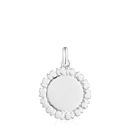 Silver Straight medallion Pendant