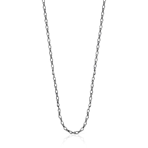 Collar TOUS Chain barbada de Plata Dark Silver