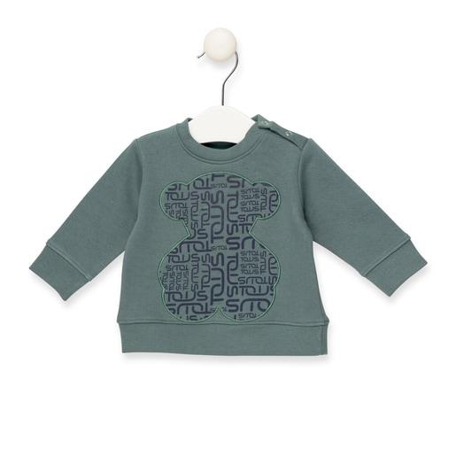 Sweatshirt Urso logograma Verde