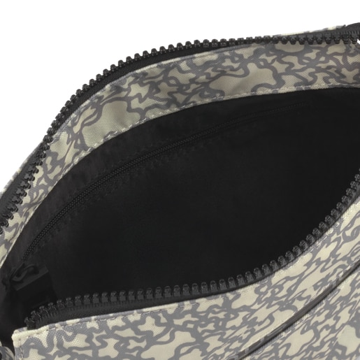 Beige-gray Kaos Mini Sport Flat Crossbody bag