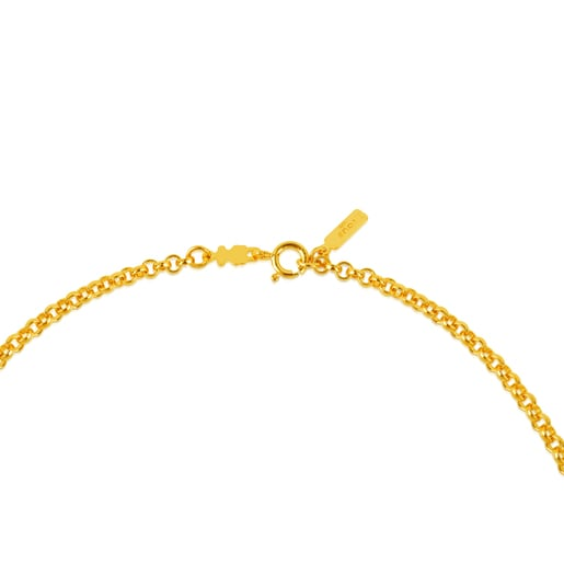 40 cm Silver Vermeil TOUS Chain Choker with round rings.