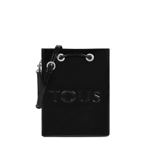 Μίνι μαύρη και μπεζ τσάντα Χιαστί Dorp