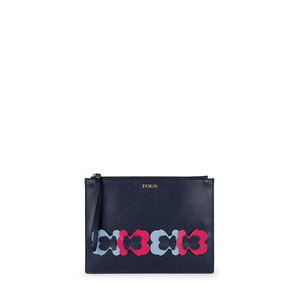 Blue Leather Romie Clutch bag