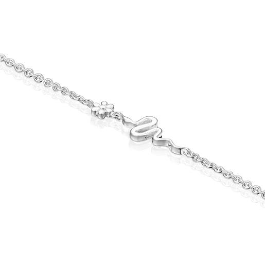 Bracelet Fragile Nature serpent en Argent
