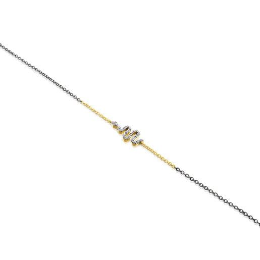 Armband Gem Power aus Gold und Silber mit Diamanten