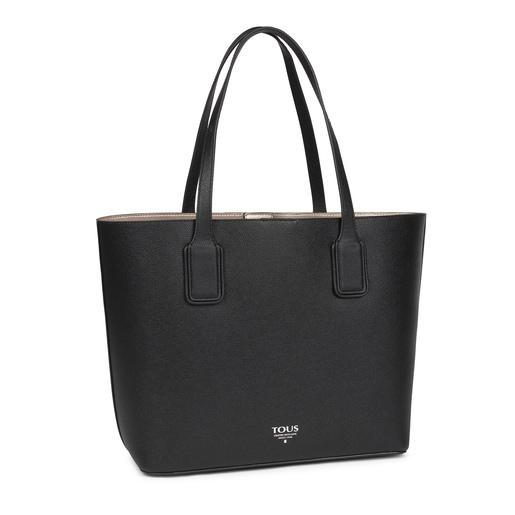 Μεγάλη μαύρη τσάντα Tote TOUS Essential