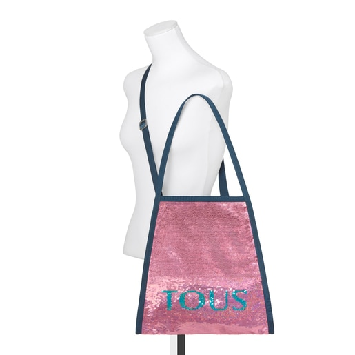 Fuchsia Jeans Sequin T Colors Collection Shopping Bag