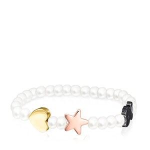 Braçalet Sweet Dolls de Perles amb Plata Vermeil, Plata Vermeil rosa i Plata Dark Silver