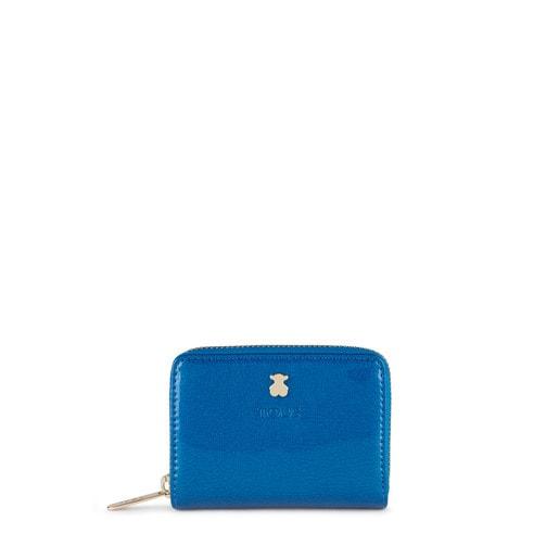 Monedero mediano Dorp azul