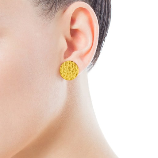 Vermeil Silver Grit Earrings