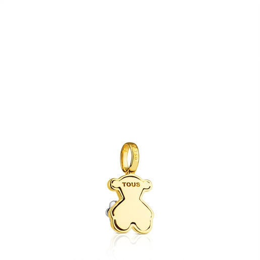 Gold Flora Pendant with Diamond