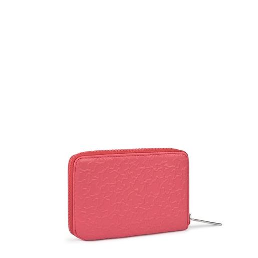 Small fuchsia leather Sira wallet