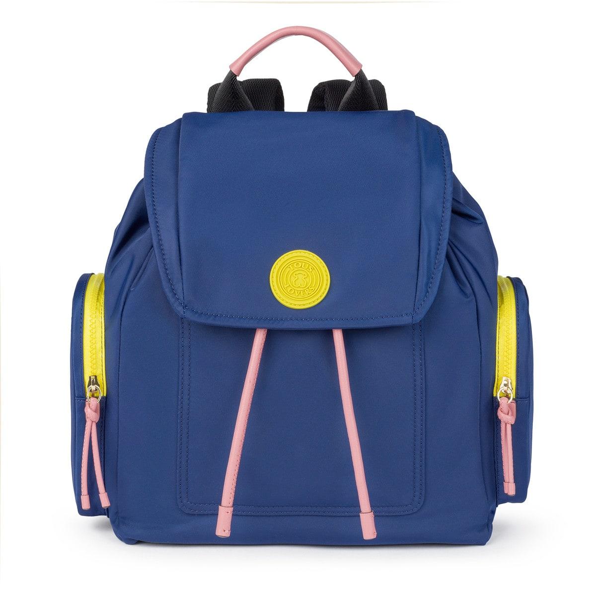 c9271c6f2 Medium tri-navy colored Doromy pocket Backpack - Tous Site GB