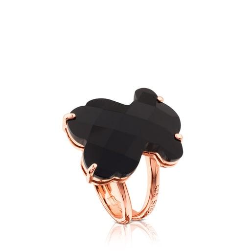 Ring Erma aus rosa Vermeil-Silber