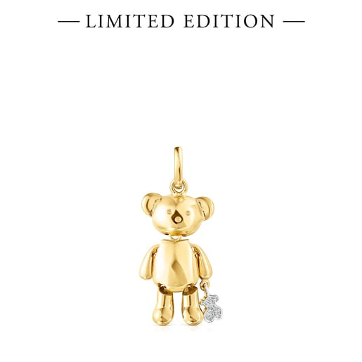 Μεσαίου μεγέθους Μενταγιόν Teddy Bear από Χρυσό με Διαμάντια – Περιορισμένη έκδοση
