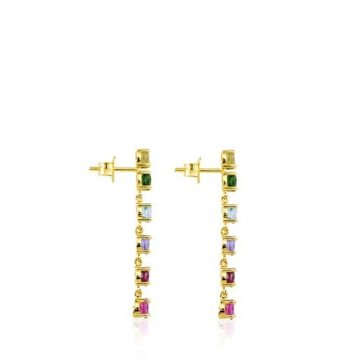 Boucles d'oreilles Mix Color en Or