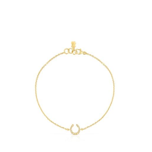 Pulsera herradura de oro y diamantes TOUS Good Vibes