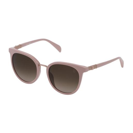 Gafas de sol Mesh de metal y acetato en color rosa