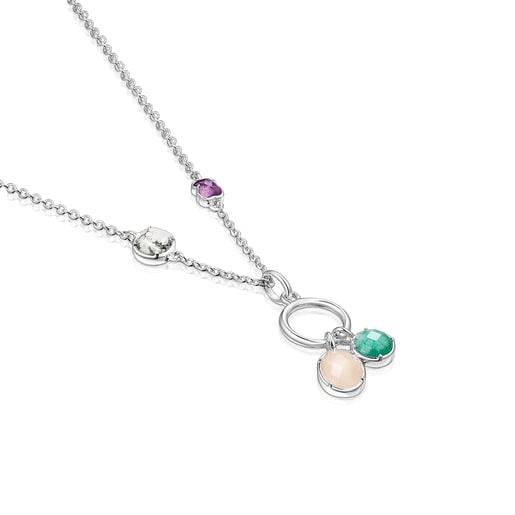 Collar Cool Color de plata y gemas