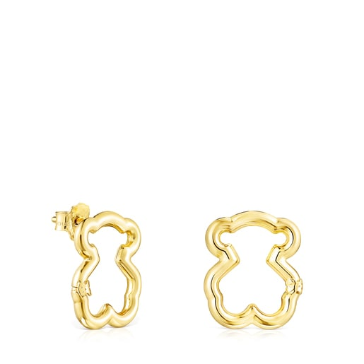 Gold Hold Bear Earrings