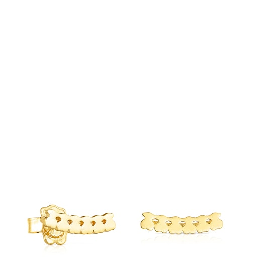 Silver vermeil Straight bears Earrings