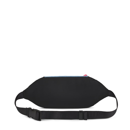 Bolsa de cintura Ina preta e multicolor
