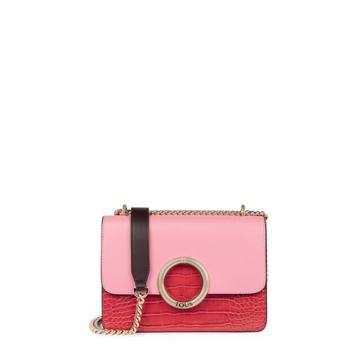Bandolera pequeña Audree rosa y rojo