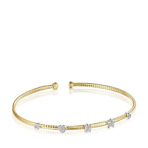 Pulsera de oro con diamantes Light