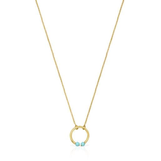 Halskette Batala aus Vermeil-Gold mit Howlith