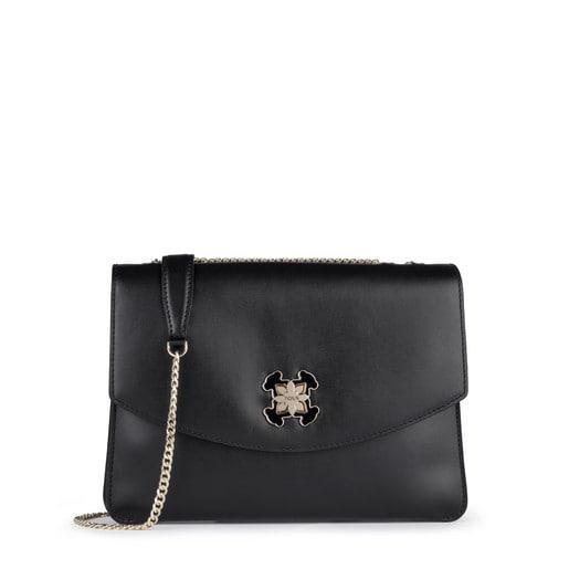 Medium black Leather Liz Crossbody bag