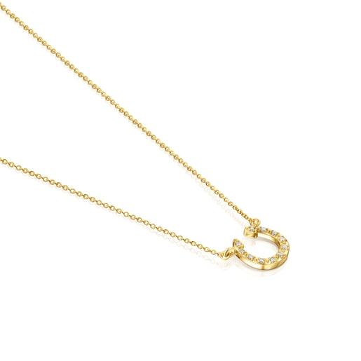 Κολιέ πέταλο TOUS Good Vibes από Χρυσό με Διαμάντια